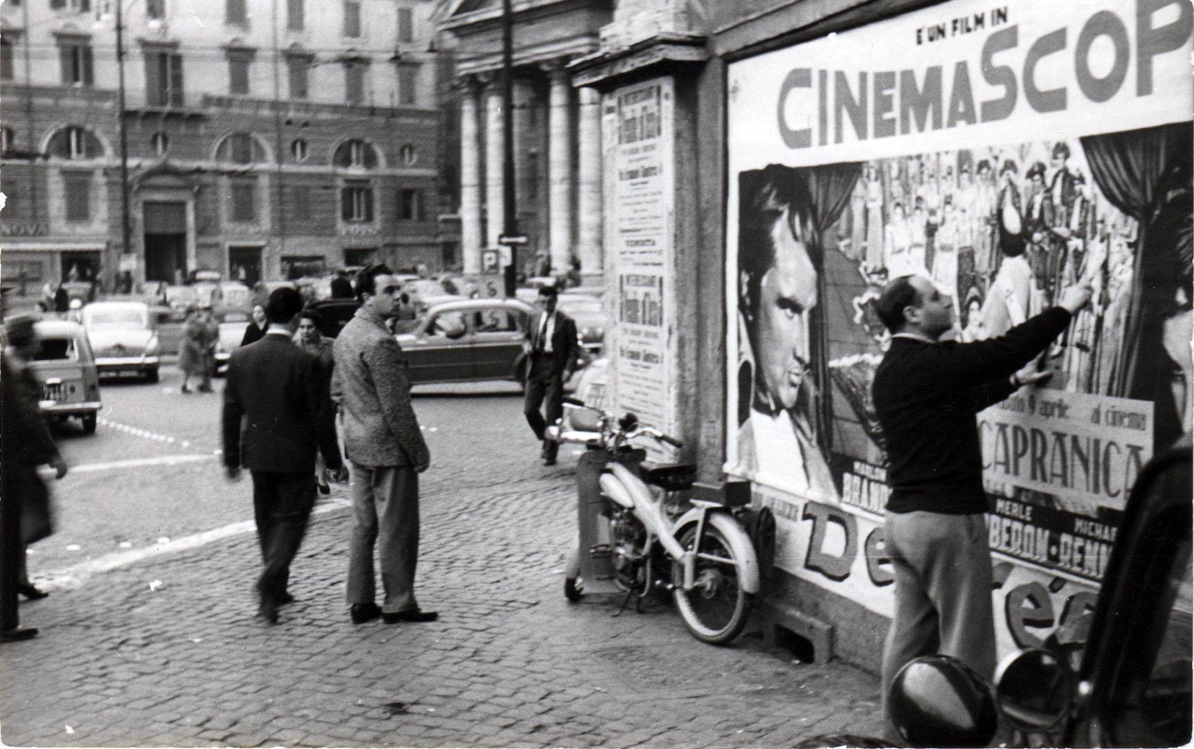 Mimmo Rotella a Roma negli anni '50