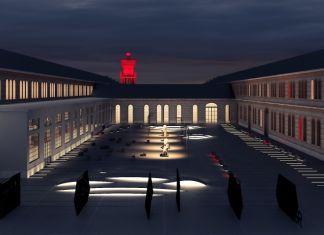 Nuove OGR, Torino, Corte Est notte