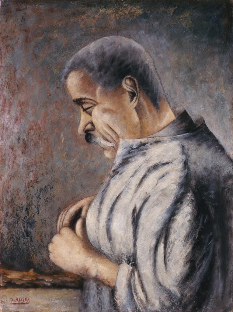 Ottone Rosai, L'intagliatore, 1922. Collezione Giuseppe Iannaccone