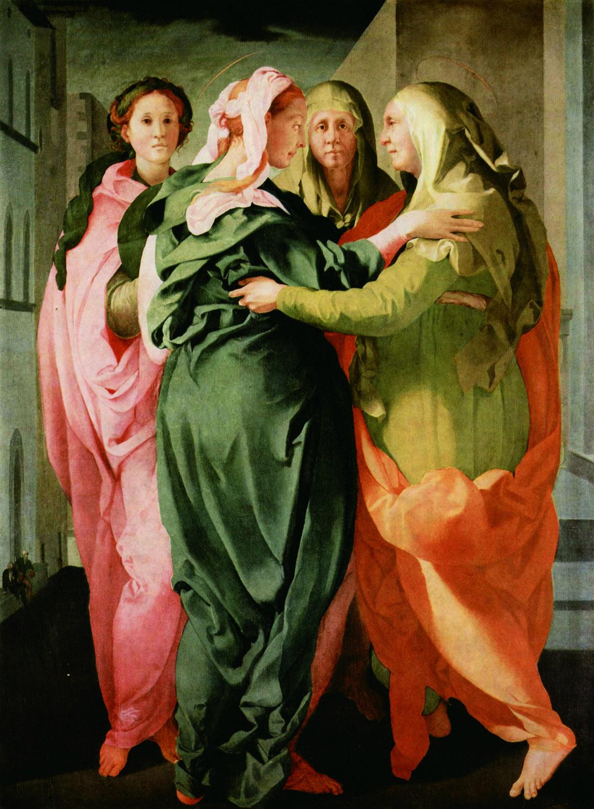 Pontormo, Visitazione 1528-29 ca. Olio su tavola, cm 207 x 159,4. Carmignano, Pieve di San Michele Arcangelo. Photo Antonio Quattrone