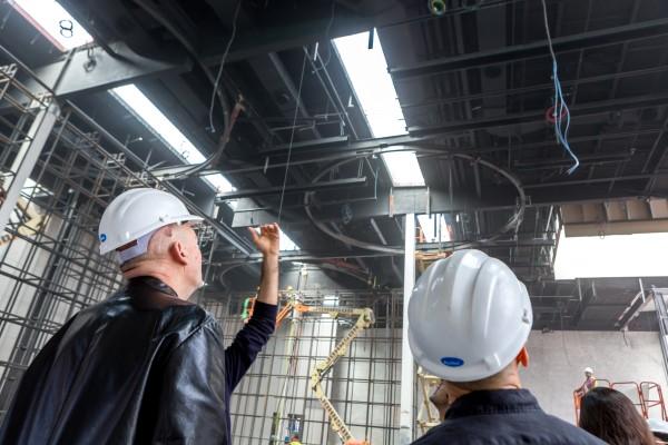 Rem Koolhaas visita il cantiere