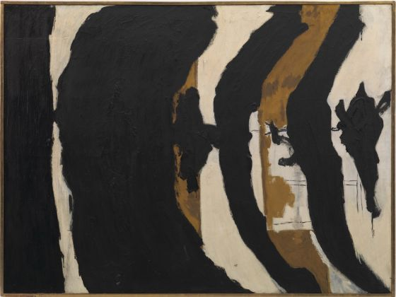 Robert Motherwell, Wall Painting No. III, 1953. Private collection. Courtesy Hauser & Wirth. © Dedalus Foundation, Inc. -VAGA, NY-VEGAP, Bilbao, 2016