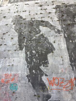 Scritte sul muro di Kentridge a Roma