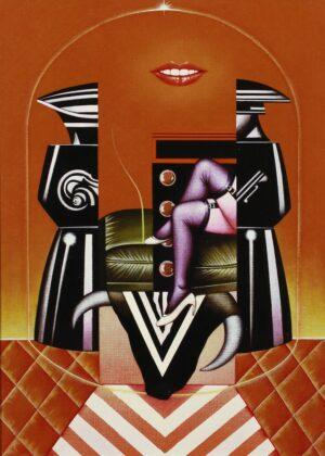 Sergio Sarri, Studio per Belle de Jour (omaggio a Bunuel), 1985. Acrilico su tela 55x40 cm. Galleria Robilant + Voena