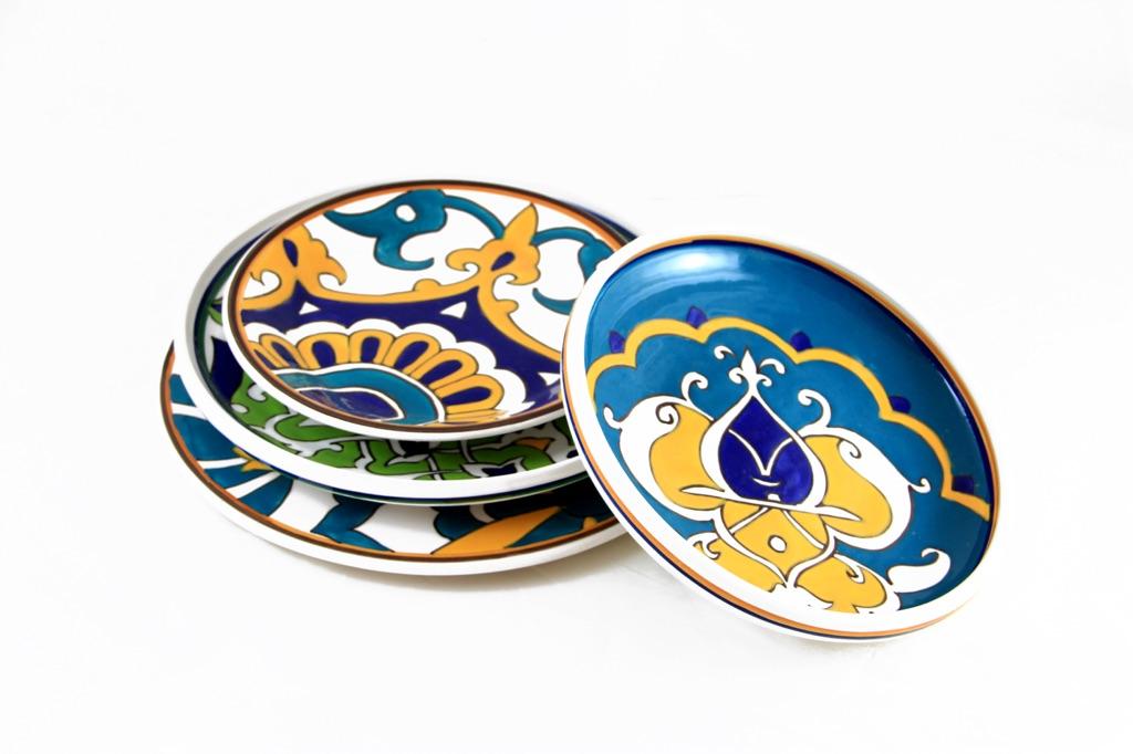 Una linea di piatti del Nabeul Tableware Cluster, Tunisia