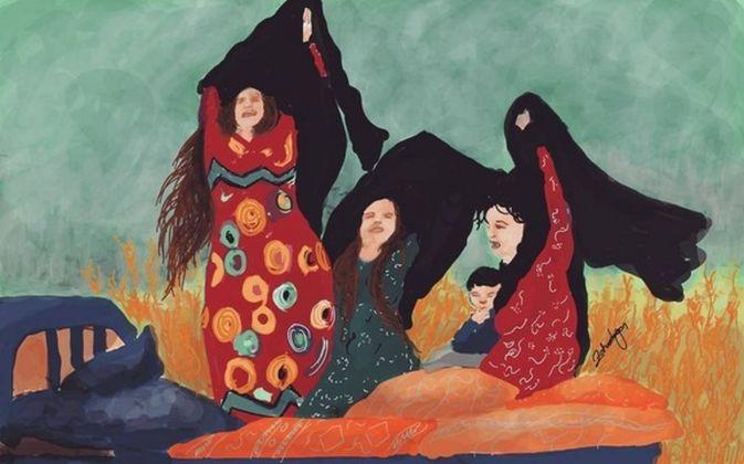 Un'opera di Zehra Doğan