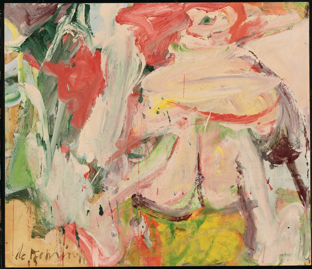 Willem de Kooning, Untitled (Woman in Forest), ca. 1963–64. Private collection. © The Willem de Kooning Foundation, New York -VEGAP, Bilbao, 2016