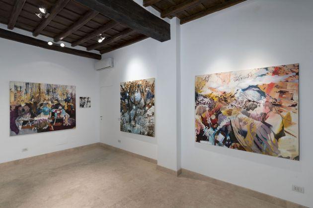 Zanbagh Lotfi. È stato forse ieri. Exhibition view at Richter Fine Art, Roma 2017