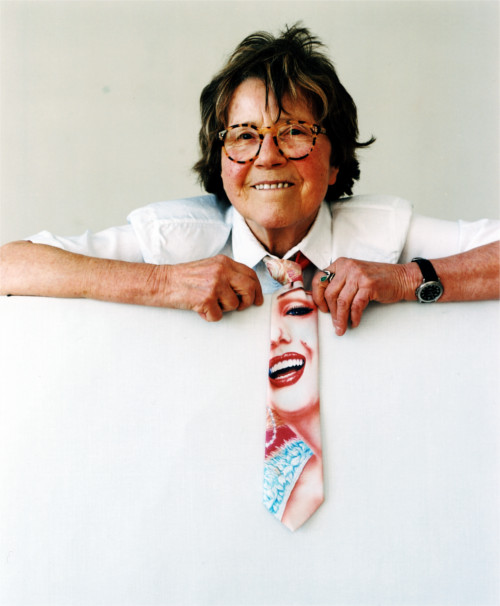 Maria Lassnig, März 2002 Foto: © Bettina Flitner