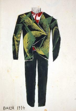 Giacomo Balla, bozzetto per vestito da uomo, 1914. Collezione Biagiotti-Cigna