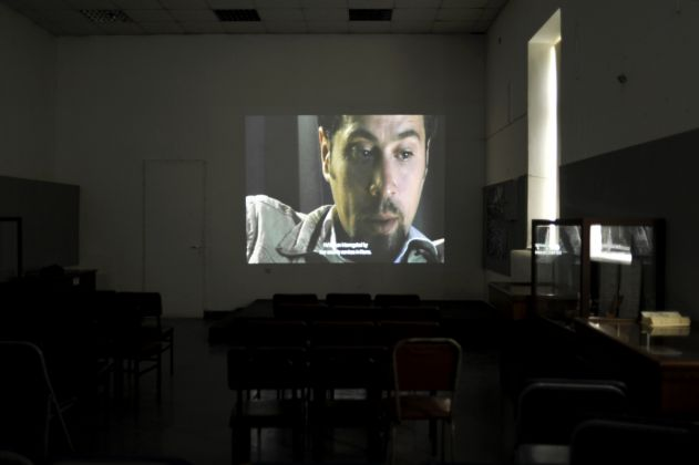 Abounaddara, The Syrian Who Wanted the Revolution, parts 1–7 (2011), digital video, installation view, Museum of Anti-dictatorial and Democratic Resistance, Athens, documenta 14, photo: Freddie F.