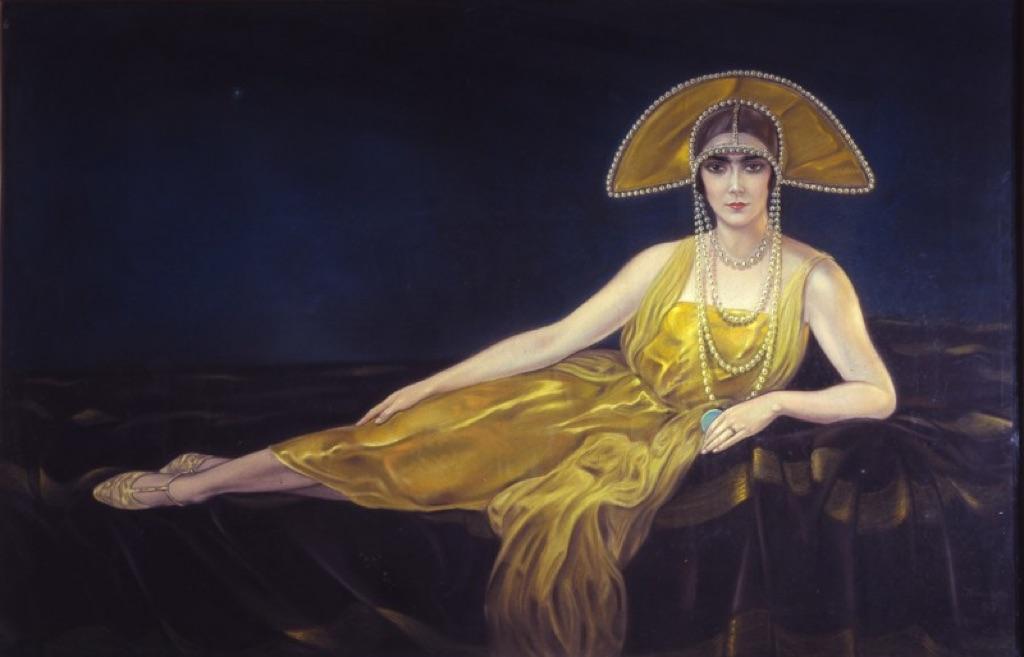 Alberto Martini, Ritratto di Wally Toscanini, 1925, pastello su carta. Collezione privata