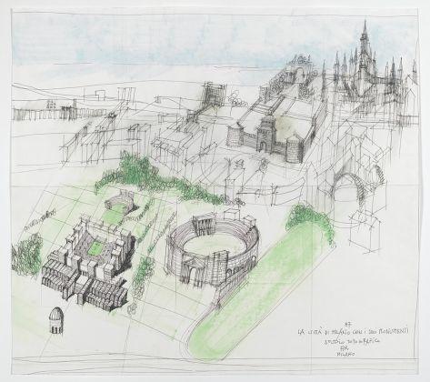Aldo Rossi, La città di Milano con i suoi monumenti. Studio topografico, 1987