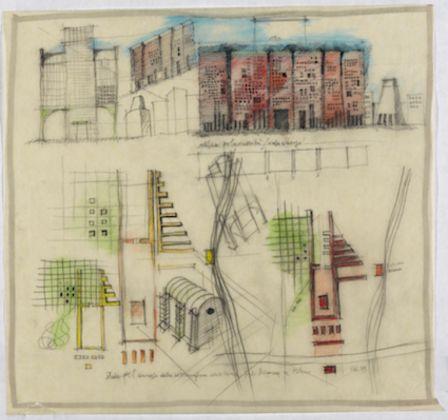 Aldo Rossi, Studio per il concorso dell'area Pirelli Bicocca a Milano, 1985