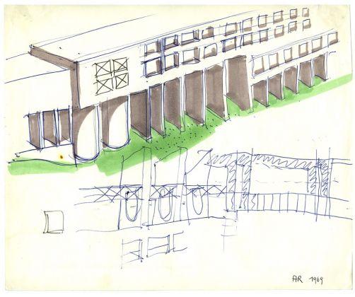 Aldo Rossi, Studio per il quartiere Gallaratese, 1969