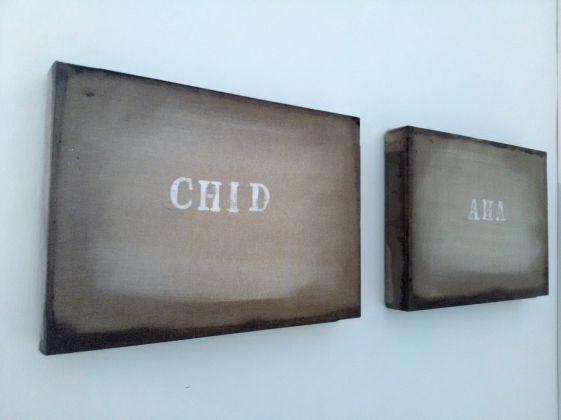 Alfredo Rapetti Mogol. Le mie parole. Exhibition view at Galleria Gino Monti, Ancona 2017