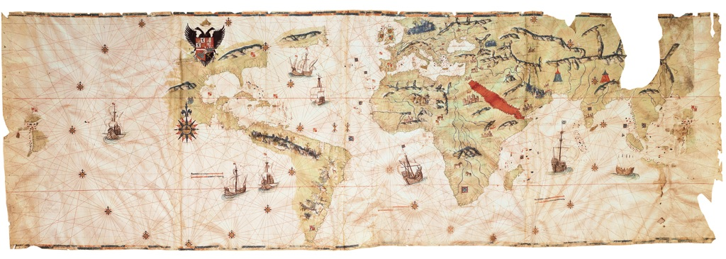 Amerigo Vespucci, Mappamondo portolano, Venezia, 1550 ca. Courtesy The Hispanic Society