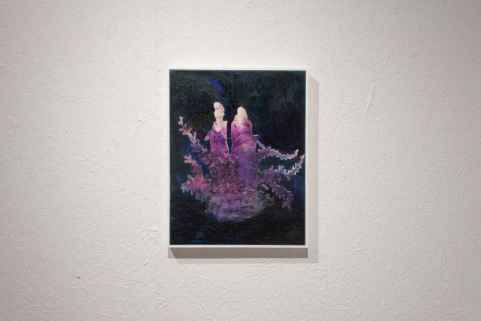 Andrea Grotto e Cristiano Focacci Menchini. Leda e Grecale. Exhibition view at Galleria Caterina Tognon, Venezia 201