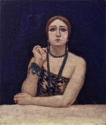 Anselmo Bucci, Rosa Rodrigo (La bella), 1923, olio su tela. Courtesy Matteo Mapelli-Galleria Antologia, Monza