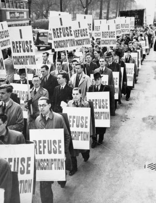 Anti-conscription, Londra, marzo 1939 © IWM