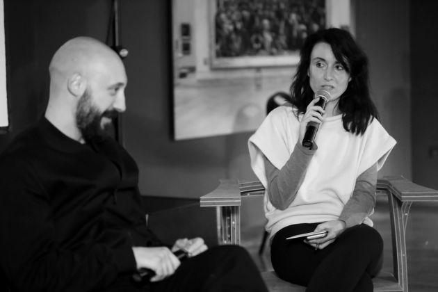 Artribune e The IQOS Pathfinder Project. Talk con Quayola, Milano, 6 aprile 2017 - a dx Ginevra Bria