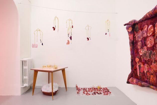 Athena Papadopoulos. Belladonna's Muse. Installation view at Basement Roma, Roma 2017. Photo Roberto Apa. Courtesy the artist & Emalin