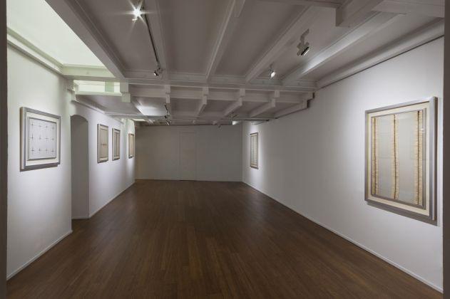 Bernard Aubertin. Situazione pittorica del rosso. Exhibition view at Galleria ABC Arte, Genova 2017