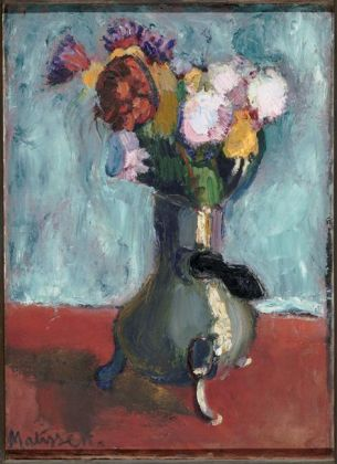 Bouquet of flowers in chocolate pot, 1902. Matisse