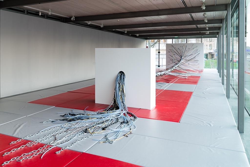 Camille Henrot. If Wishes Were Horses. Installation view at Kunsthalle Wien, 2017. Photo Jorit Aust. Camille Henrot, Tug of War, 2017, Courtesy König Galerie, Berlino & kamel mennour, Parigi