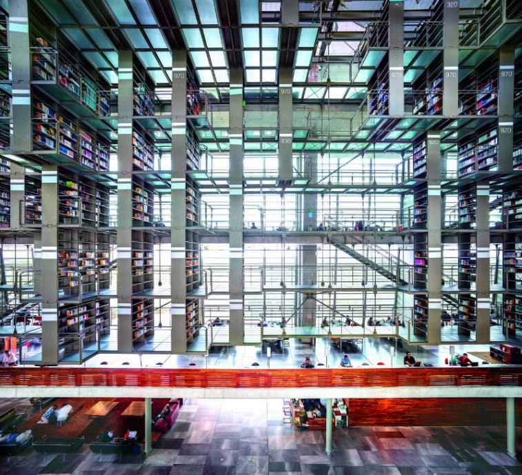 Candida Höfer, Biblioteca Vasconcelos, Città del Messico