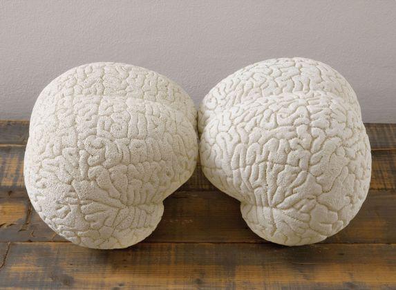 Claudia Losi, Brain (2 pieces), 2008. Courtesy Claudia Losi & Monica De Cardenas Gallery