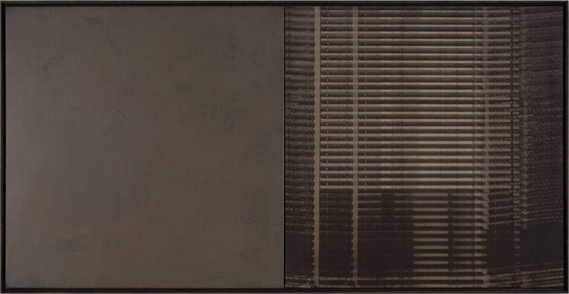 Claudia Peill, Rem 2, 2014, acrilico su tela e base fotografica, 60x120 cm