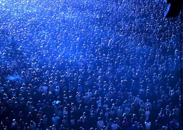 Cristian Castelnuovo, Stadium crowd, 2006. Stampa fotografica digitale montata su dibond