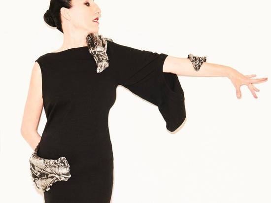 Cristina Iglesias, Arm Piece, 2016, Shoulder Piece, 2016 and Hip Piece, 2016. Photograph by Gorka Postigo, modelled by Rossy de Palma