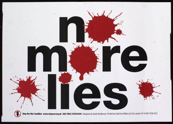 David Gentleman, Stop the War. No More Lies, 2003