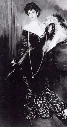 Donna Florio ritratta da Bondini nel 1901. Fotografia della prima versione, esposa a Venezia