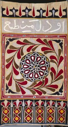 Egyptian tent curtain (khayamiya); cotton plain weave, appliquéd; artist unknown. Ancienne collection Henri Matisse (Former collection of Henri Matisse) *Photograph by François Fernandez. Courtesy Musée Matisse / Museum of Fine Arts, Boston