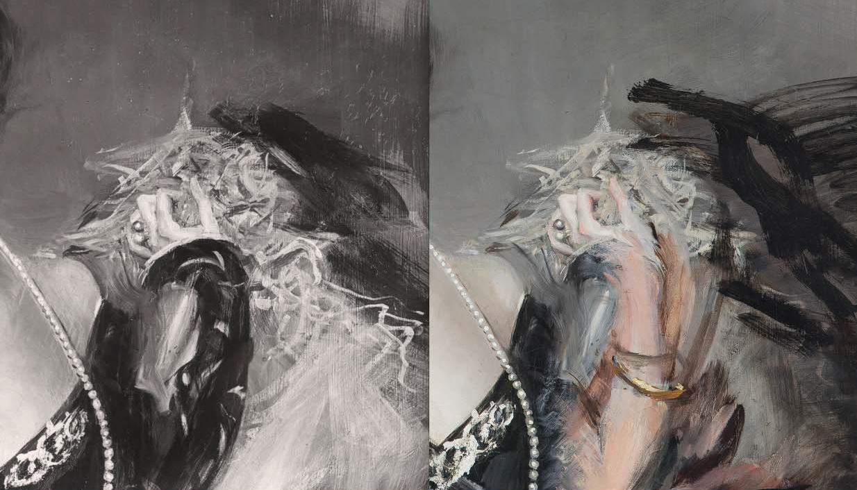 Giovanni Boldini, Donna Franca Florio, raffronto tra le version del 1901 del 1924