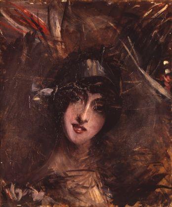 Giovanni Boldini, Il cappellino azzurro, 1912 ca. Museo MAGI '900, Pieve di Cento