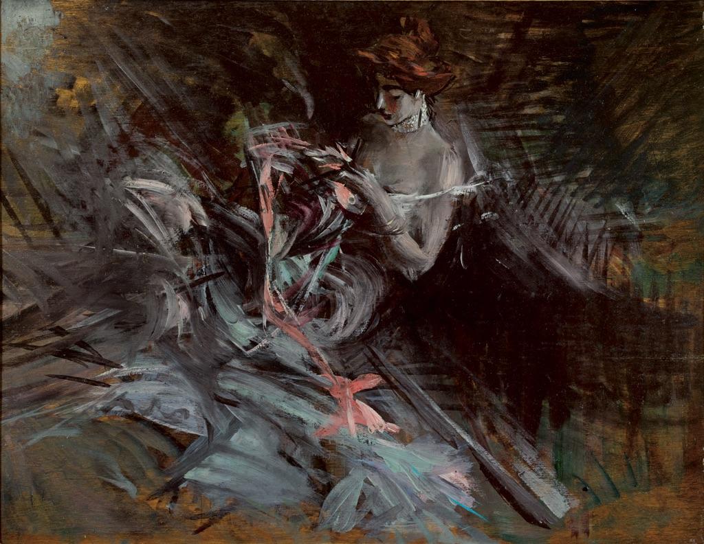 Giovanni Boldini, Il vestito da ballo, 1904 ca. Collezioni d'Arte Fondazione Cariparma, donazione Renato Bruson