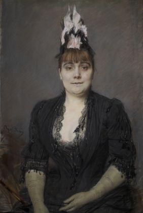 Giovanni Boldini, Ritratto di signora, 1880. Galleria d'Arte Moderna Ricci Oddi, Piacenza