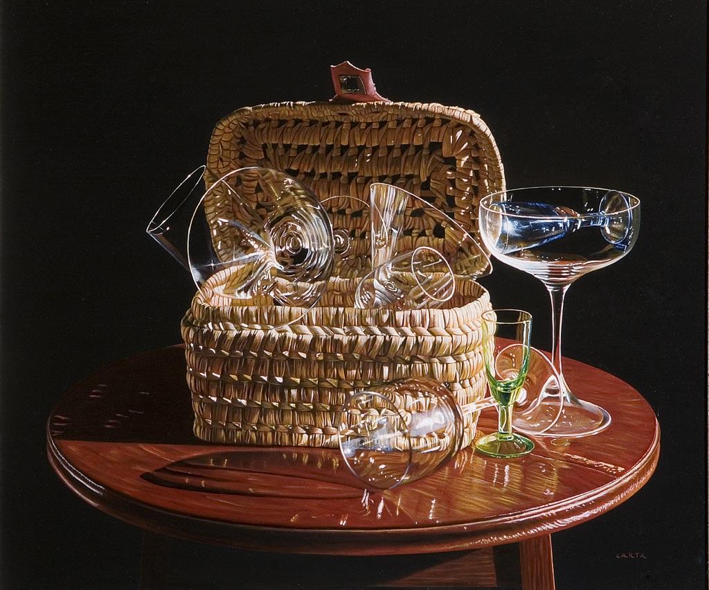 Giuseppe Carta, Composizione con bicchiere verde, 2004