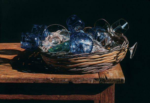 Giuseppe Carta, Grande cesto con bicchieri blu, 2006