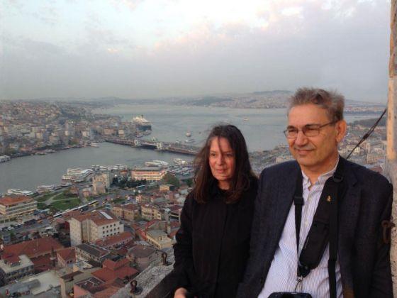 Grazia Toderi e Orhan Pamuk. Photo Antonio Maniscalco