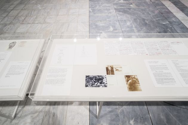 Guillermo Galindo, installation view, Athens Conservatoire (Odeion), documenta 14, photo: Mathias Völzke