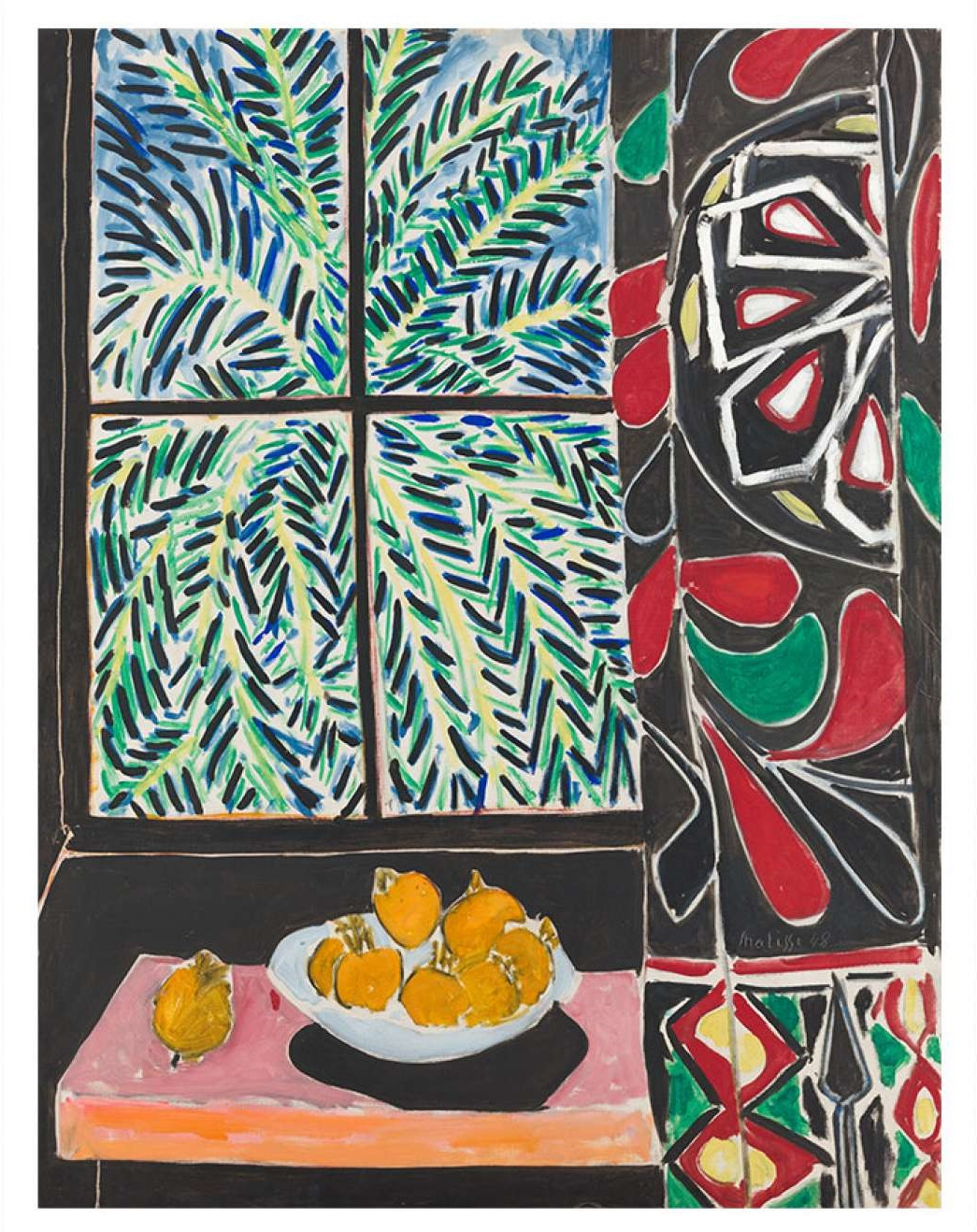 Henri Matisse, Interior with Egyptian Curtain, 1948