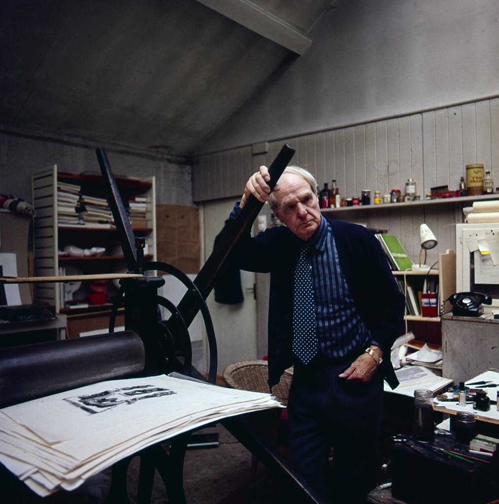 Henry Moore, Londra, 1972. Photo Aurelio Amendola
