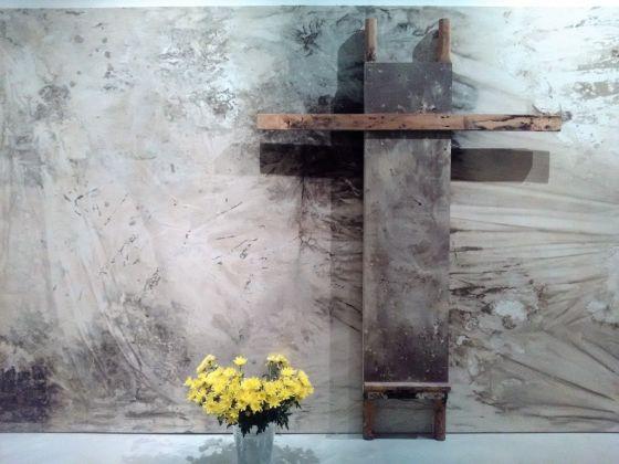 Hermann Nitsch, O.T.M. Colore dal Rito. Exhibition view at CIAC, Foligno 2017
