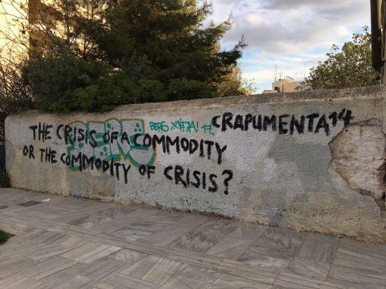 "i graffiti ad Atene per ""crapumenta"""