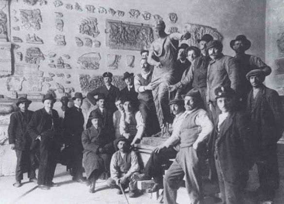 Il ritrovamento della Vittoria Alata a Brescia nel 1826